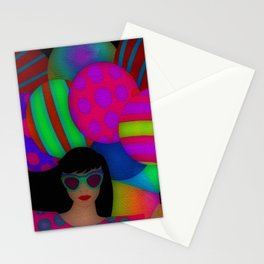 Fun With Coloring Balloons Electric Stationery Cards