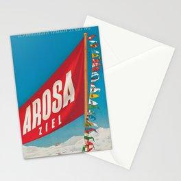 Vintage Ski Travel Poster 1943 Stationery Cards