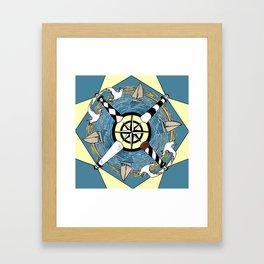 OBX Lighthouse Mandala Framed Art Print