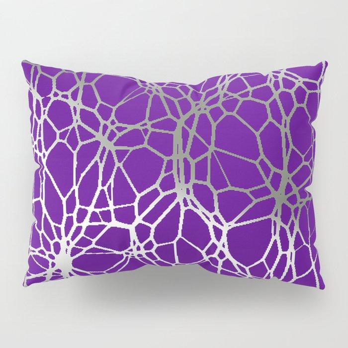 Pattern and Light purple silver Pillow Sham