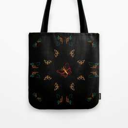 Christmas Lights Pattern - Butterfly Tote Bag