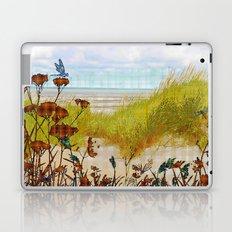 Plaid Beachscape with Dragonflies Laptop & iPad Skin