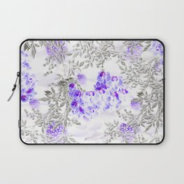 ORCHIDS PURPLE VINES AND CHERRY BLOSSOMS Laptop Sleeve