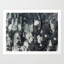 Textured tree Art Print