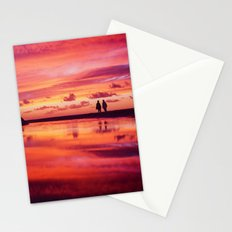 2 friends at the beach Stationery Cards