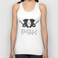 pittsburgh Tank Tops featuring Pittsburgh Football by John Trivelli