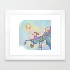 Up on the treetop Framed Art Print