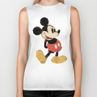 mickey Biker Tanks featuring Mr. Mickey Mouse by Ed Burczyk