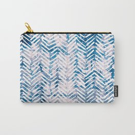 Boho Tribal Shibori Pink and Blue Pattern Carry-All Pouch