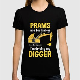 Excavators for boys and children T-shirt