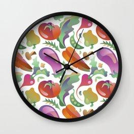 Garden Vegetables Wall Clock