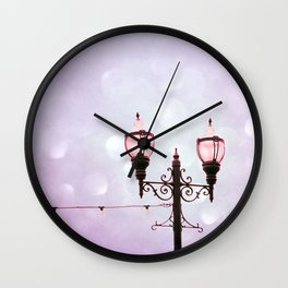 Lamplight of Cotton Candy Dreams Wall Clock