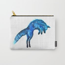 Space Fox | Fox Constellation | Leaping Fox | Double Exposure Fox Carry-All Pouch