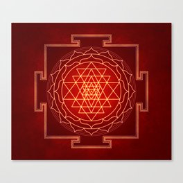 Sri Yantra X Canvas Print