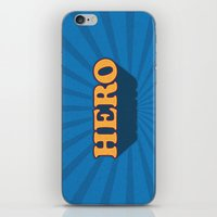 hero iPhone & iPod Skins featuring Hero by Word Quirk