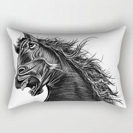 Angry Horse Rectangular Pillow