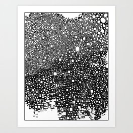 B&W meditation design Art Print