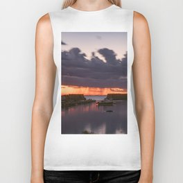 Rainy Lanescove Sunset Biker Tank