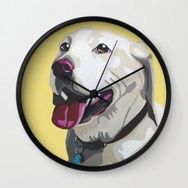 Dalton the Yellow Lab Wall Clock