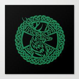 Celtic Nature Deer Canvas Print