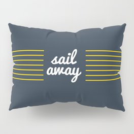 Sail Away Nautical Print Pillow Sham