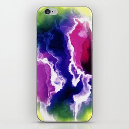 colorful storm clouds iPhone Skin