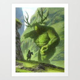 dude is this yours, I think you've dropped it back over there Art Print
