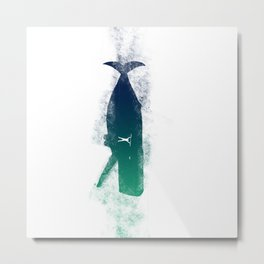 A Whale and a Man Metal Print