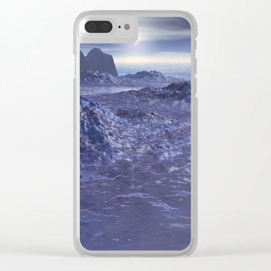 Frozen Sea of Neptune Clear iPhone Case