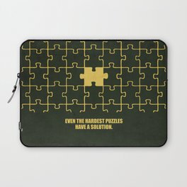 Lab No. 4 -Even The Hardest Puzzles Have A Solution Corporate Start-Up Quotes Laptop Sleeve