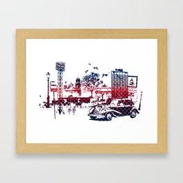 Fantasy city Framed Art Print