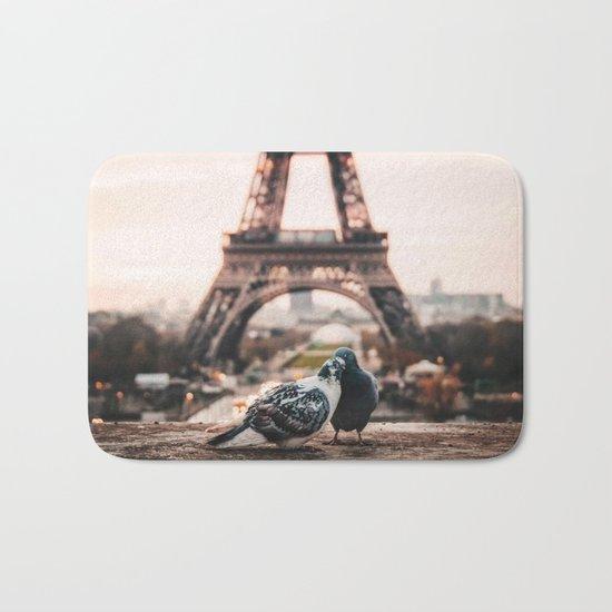Lover Doves in Paris Bath Mat
