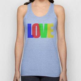 Love (Color) Unisex Tank Top