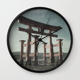 Miyajima Shinto Gate Wall Clock
