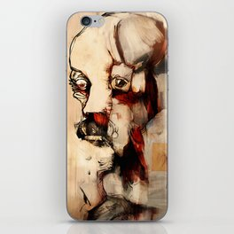 Portrait of a Distracted Man iPhone Skin