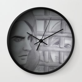 Melkor and Mairon (The seventh seal) Wall Clock