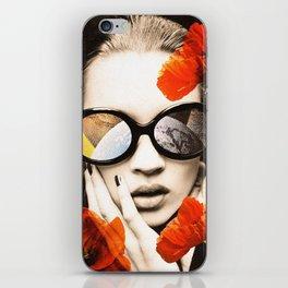 poppy pop (kate Moss) iPhone Skin
