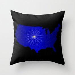 United States Celebration Throw Pillow