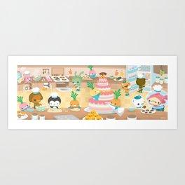 The Octonauts Vegimal Kitchen Art Print