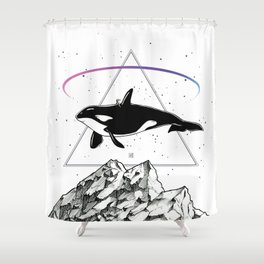 Trip to the Mountains Shower Curtain
