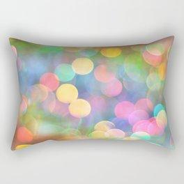 Rainbow Bokeh I Rectangular Pillow