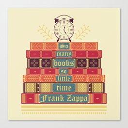 So many books - Frank Zappa Canvas Print