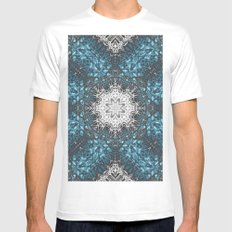 Mehndi Ethnic Style G336 MEDIUM White Mens Fitted Tee