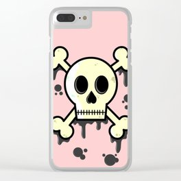 Dipped in tar Clear iPhone Case