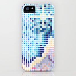 Pixelated Nebula Blue iPhone Case