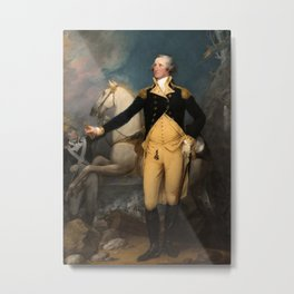 General George Washington at Trenton by John Trumbull (1792) Metal Print