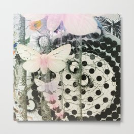 Polka dot Butterfly Metal Print
