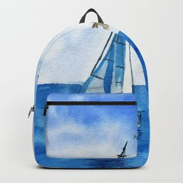 Boat trip on the yacht Backpack
