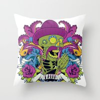 faith Throw Pillows featuring Faith by Tshirt-Factory