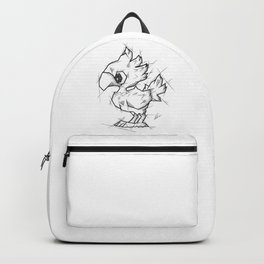 Chocobo Handmade Drawing, Made in pencil and ink, Tattoo Sketch, Final Fantasy Art Backpack